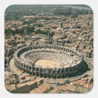 Aerial view of the amphitheatre square sticker
