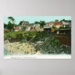 Aerial View of the Bathing Beach Print