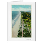 Aerial View of the Beachfront Greeting Card