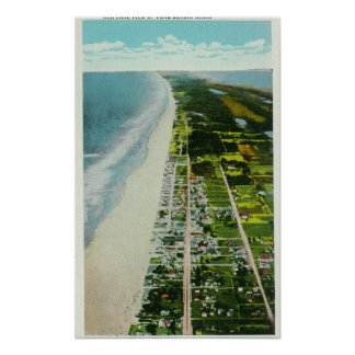 Aerial View of the Beachfront Posters