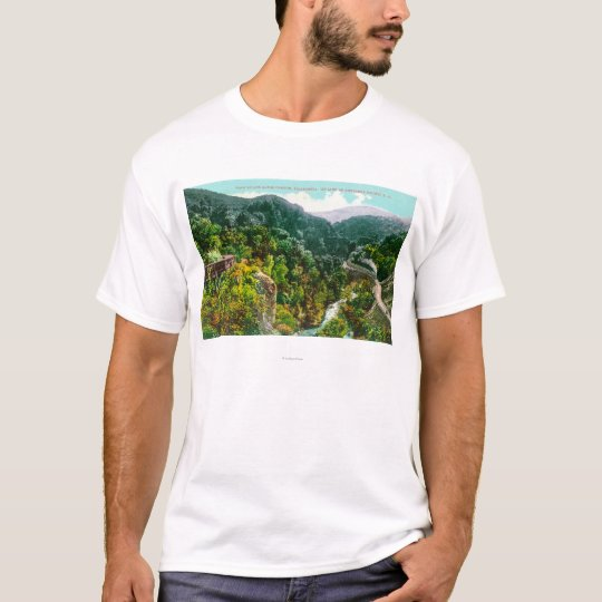 Aerial View of the Canyon, Southern Pacific Trai T-Shirt