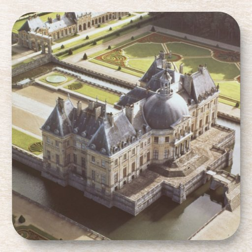 Aerial view of the Chateau, designed for Nicholas Beverage Coasters