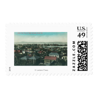 Aerial View of the City and Mare Island Postage Stamp