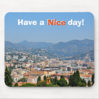 Aerial view of the city of Nice in France Mouse Pad