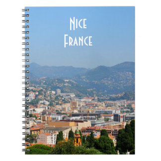 Aerial view of the city of Nice in France Notebook