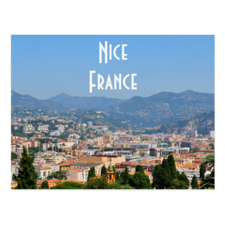 Aerial view of the city of Nice in France Postcard