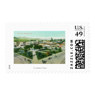 Aerial View of the City PlazaHealdsburg, CA Postage