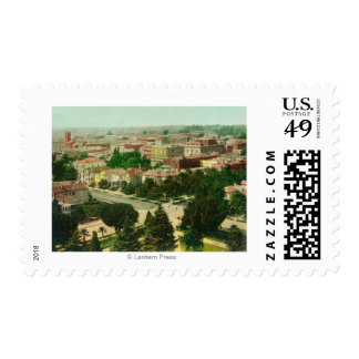 Aerial View of the City Stamp