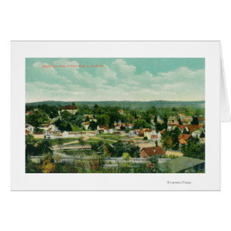 Aerial View of the CityPaso Robles, CA Greeting Card