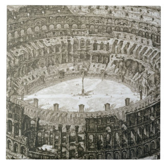 Aerial view of the Colosseum in Rome from 'Views o Ceramic Tile