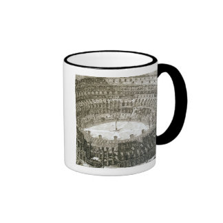 Aerial view of the Colosseum in Rome from 'Views o Ringer Coffee Mug