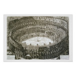 Aerial view of the Colosseum in Rome from 'Views o Print