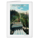 Aerial View of the Electron Power Station Greeting Card