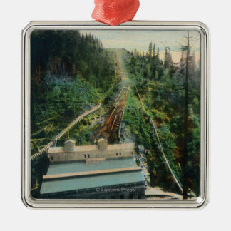 Aerial View of the Electron Power Station Metal Ornament