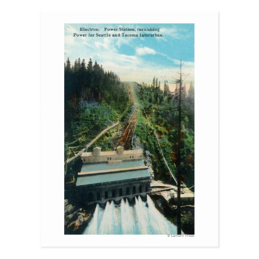 Aerial View of the Electron Power Station Post Card