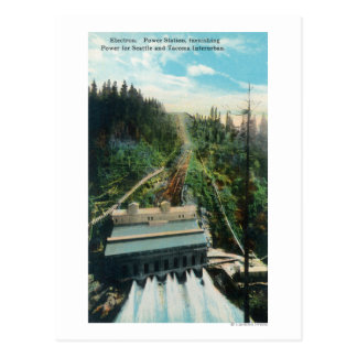 Aerial View of the Electron Power Station Postcard