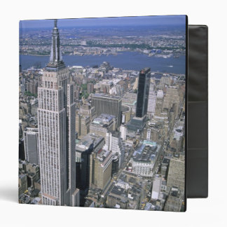 Aerial view of the Empire State Building and 3 Ring Binder