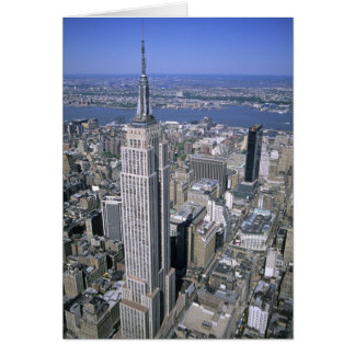 Aerial view of the Empire State Building and Card