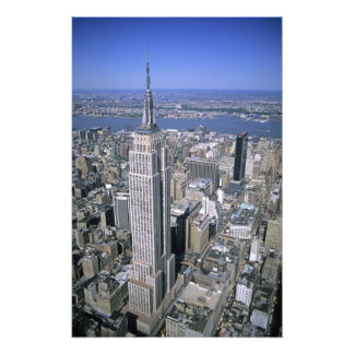 Aerial view of the Empire State Building and Photo Print