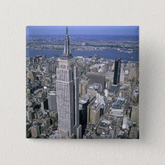Aerial view of the Empire State Building and Pinback Button