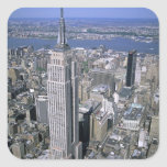 Aerial view of the Empire State Building and Square Sticker