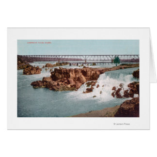 Aerial View of the Falls and Bridge Card