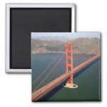Aerial view of the Golden Gate Bridge in the 2 Fridge Magnets