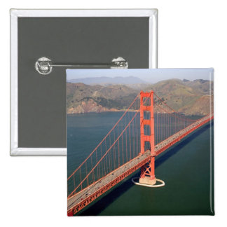 Aerial view of the Golden Gate Bridge in the 2 Pinback Button