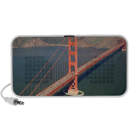Aerial view of the Golden Gate Bridge in the 2 Travel Speaker
