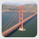 Aerial view of the Golden Gate Bridge in the 2 Sticker