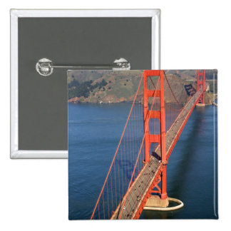 Aerial view of the Golden Gate Bridge in the Pinback Buttons