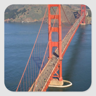 Aerial view of the Golden Gate Bridge in the Square Sticker