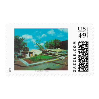Aerial View of the Golden Tee Resort Lodge Postage Stamp