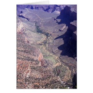 Aerial view of the Grand Canyon in Arizona Card