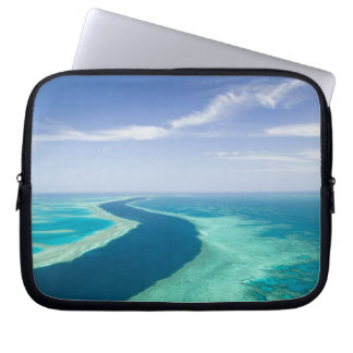 Aerial view of The Great Barrier Reef by the Laptop Computer Sleeves