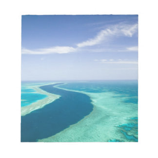 Aerial view of The Great Barrier Reef by the Memo Note Pads
