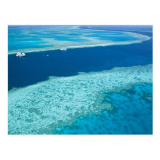 Aerial view of The Great Barrier Reef by the Postcard