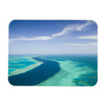 Aerial view of The Great Barrier Reef by the Rectangular Photo Magnet