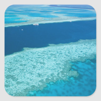 Aerial view of The Great Barrier Reef by the Sticker