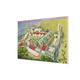 Aerial View of the Irish Village Stretched Canvas Print