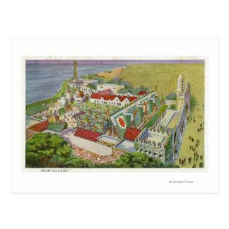 Aerial View of the Irish Village Postcard
