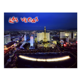 Aerial view of the Las Vegas Strip at night Postcard
