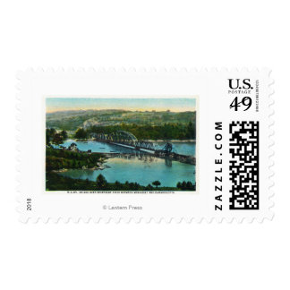 Aerial View of the Maine Central Railroad Stamp