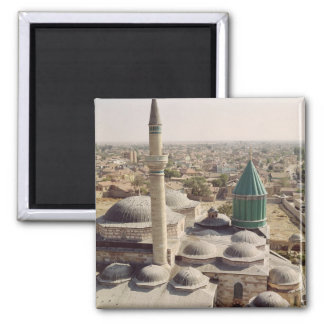 Aerial view of the Mevlana Tekke 2 Inch Square Magnet