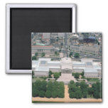 Aerial view of the National Gallery of Art 2 Inch Square Magnet
