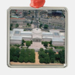 Aerial view of the National Gallery of Art Metal Ornament