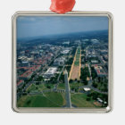 Aerial view of the National Mall Metal Ornament