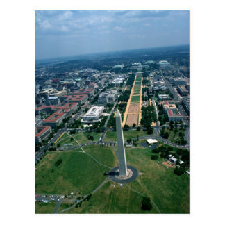Aerial view of the National Mall Postcard