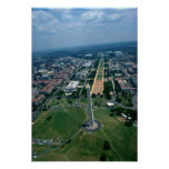 Aerial view of the National Mall Poster