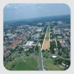 Aerial view of the National Mall Stickers